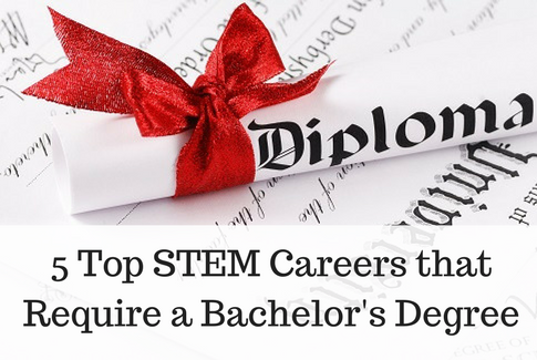 STEM careers that require a bachelor's degree